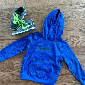 Nike Blue & Black Dri-Fit Hooded Sweatshirt